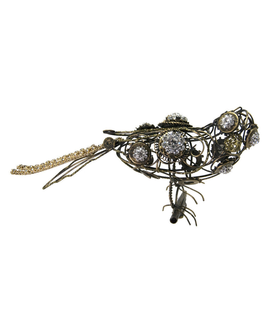 Katherine's Collection Journey Clock Gear Bird Clip
