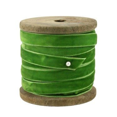 Marais Velvet Ribbon - Small Spool - Green