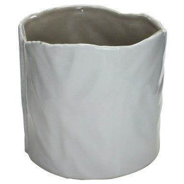 Marc Ceramic Vase - Large - White-Putty