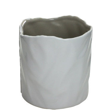 Marc Ceramic Vase - Medium - White-Putty
