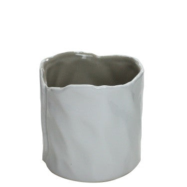 Marc Ceramic Vase - Small - White-Putty