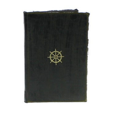 Maritime Embossed Journal - Wheel - Black