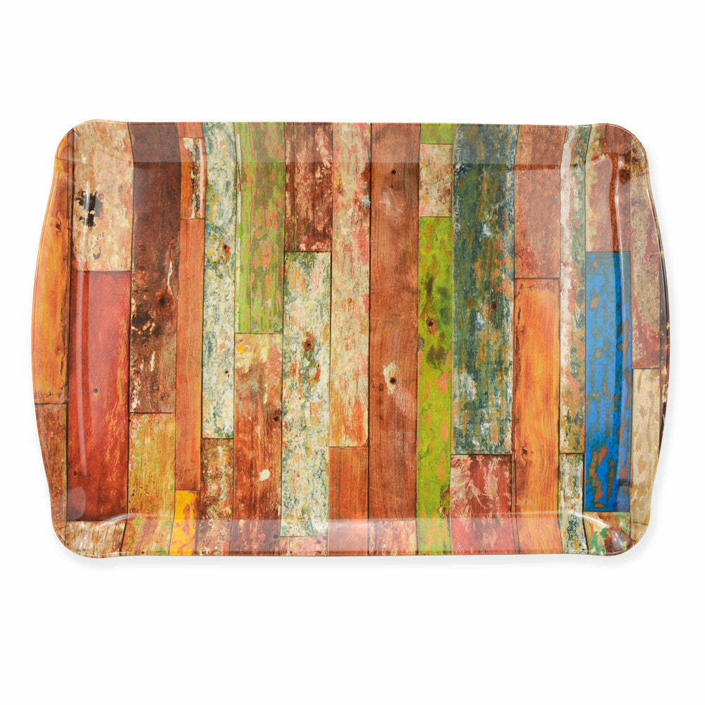Melamine Multi-Color Plank Serving Tray