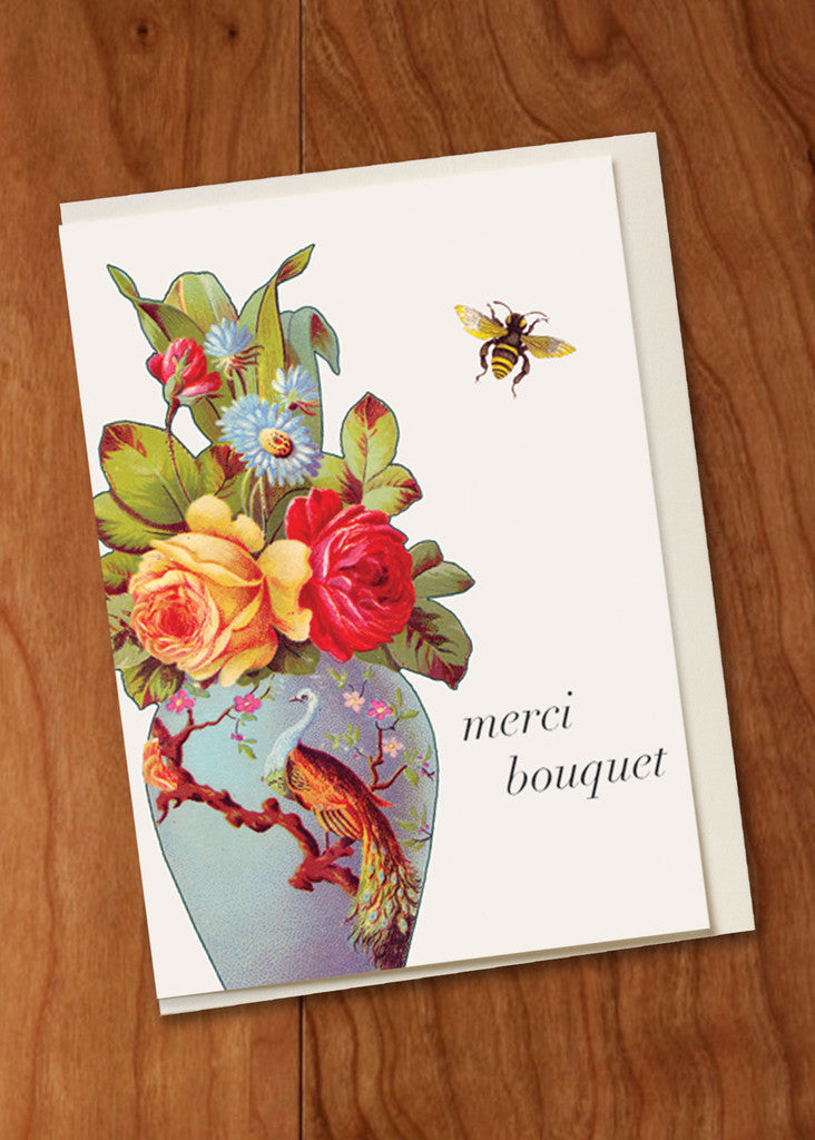 Merci Bouquet Mini Card