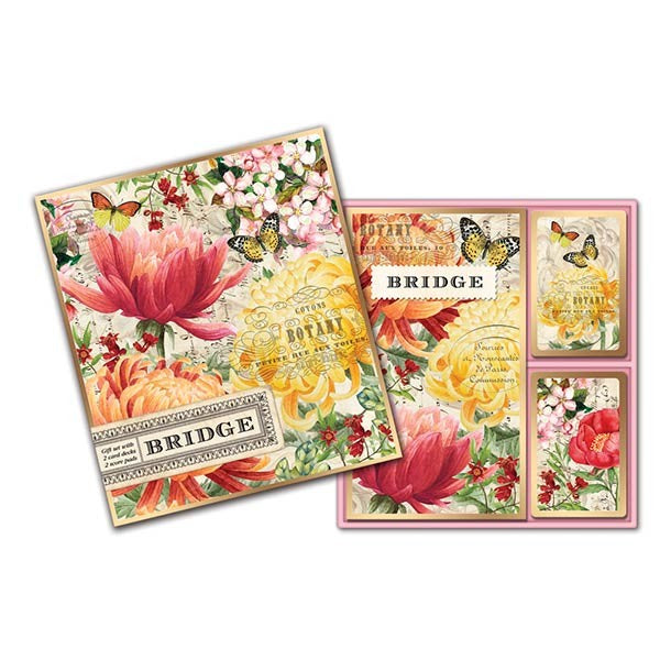 Morning Blossoms Bridge Cards Gift Set