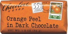 55% Orange Peel in Dark Chocolate bar
