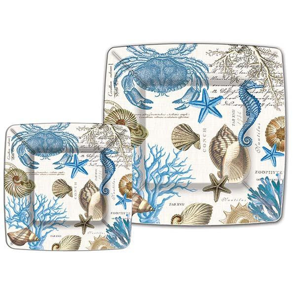 Sea Shore Small Paper Plates