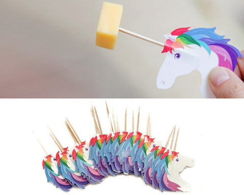 Party Picks Unicorn Designed by Rachel Elle, Set of 24