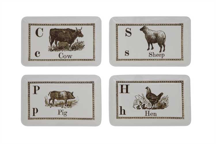 Stoneware Plate with Farm Animal + Name
