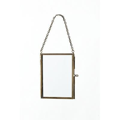 BRASS + GLASS Hanging Rectangle Specimen Frame