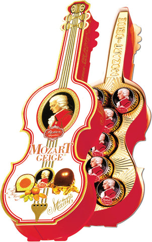 Reber Marzipan Mozart Kugel in Violin Gift Box