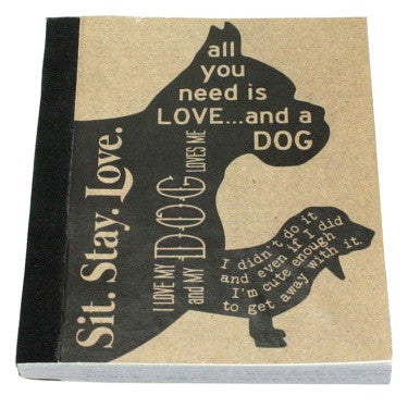 Recycled Paper Journal - Man's Best Friend