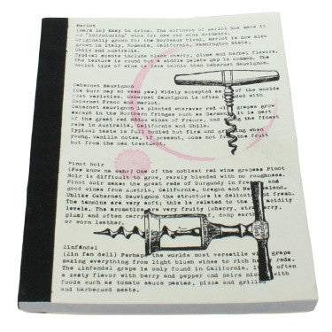 Recycled Paper Journal - Wine - Corkscrew