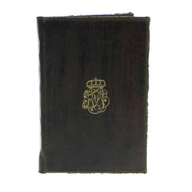 Royal Embossed Journal - Monogram - Brown