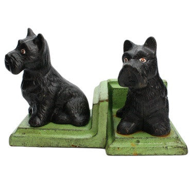 Scottie Dog Bookends - Cast Iron