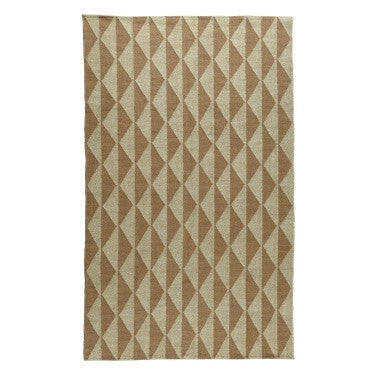 Seaport Kilim Rug 5x8 - Sand / White Signal Flag