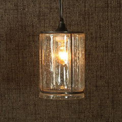 Serge Glass Pendant Light - Wide - Clear