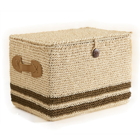 Tan Sisal Lidded Nesting Baskets