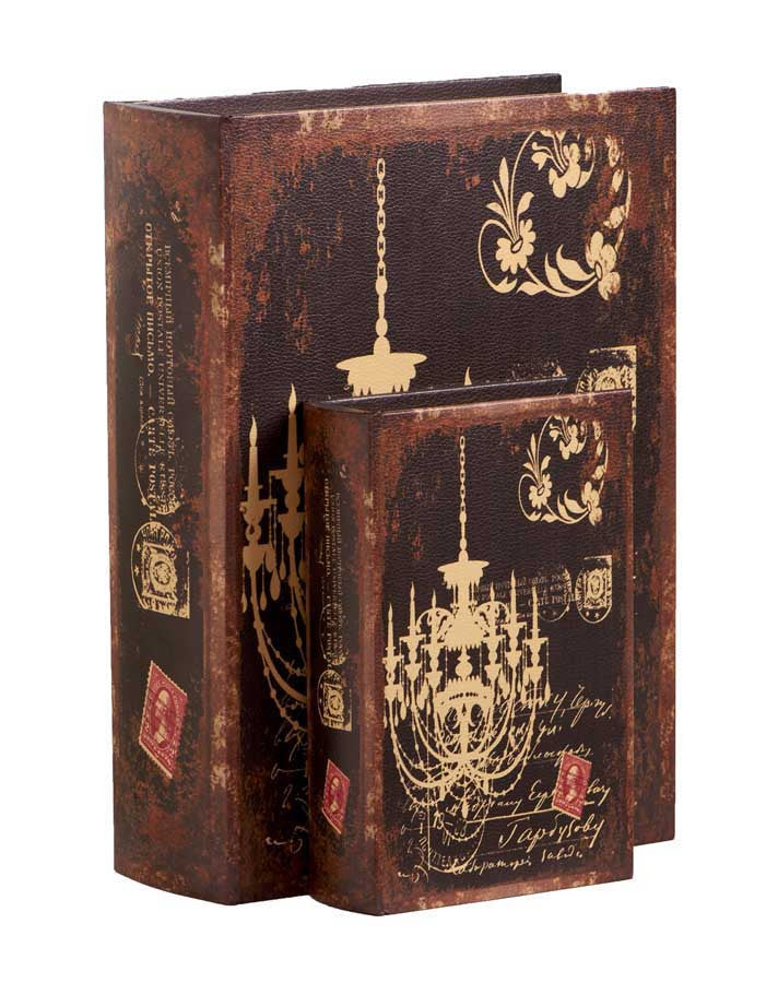 Book Boxes with Chandelier Motif