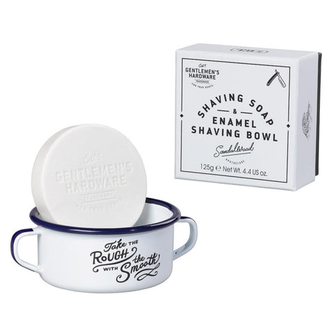 Enamel Shaving Bowl + Shaving Soap