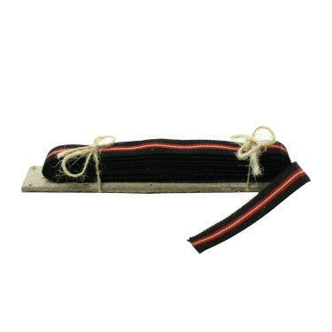 Signal Grosgrain Striped Ribbon - 5 Yd - Black-Red