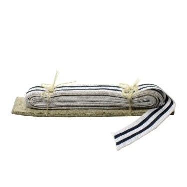 Signal Grosgrain Striped Ribbon - 5 Yd - White-Navy