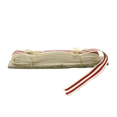 Signal Grosgrain Striped Ribbon - 5 Yd - White-Red