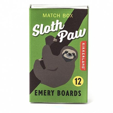 Sloth Paw Match Box Emery Boards