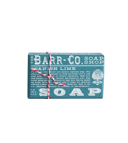 Barr-Co. Soap Shop Spanish Lime Shea Butter & Olive Oil Bar Soap