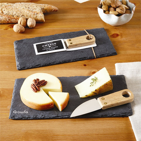 The Big Cheese Slate Cheese Board with Knife and Chalk