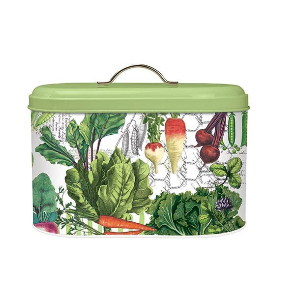 Vegetable Kingdom Metal Bread Bin