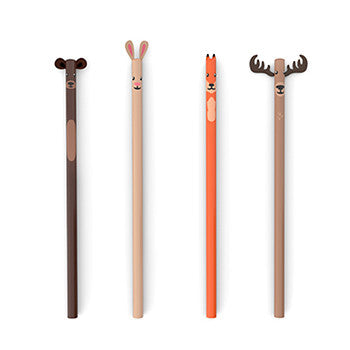 Woodland Pencils, Set Of 4