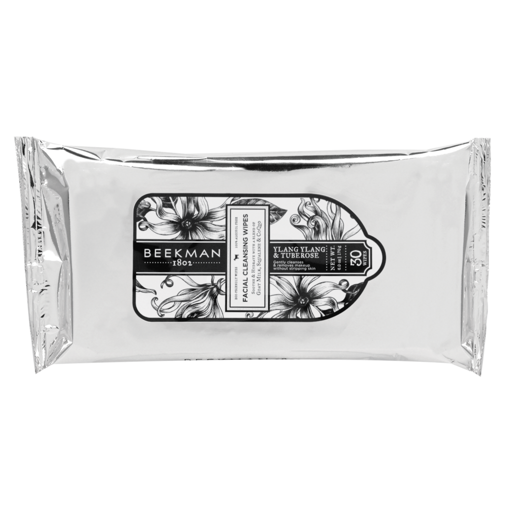 Ylang Ylang + Tuberose Face Wipes from BEEKMAN 1802
