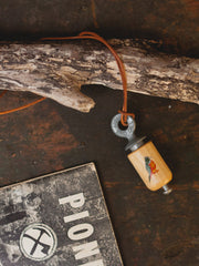 Hand Painted Bird Call Necklace