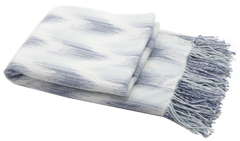 Blue Fringed Throw