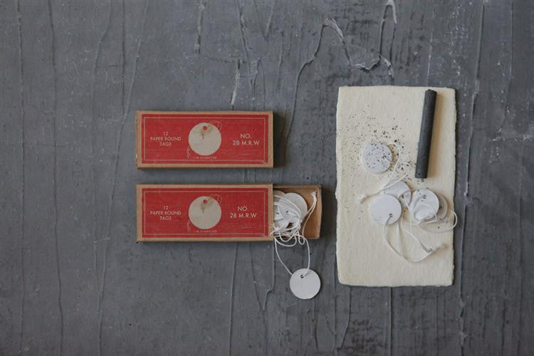 Vintage Reproduction Paper Tags + String