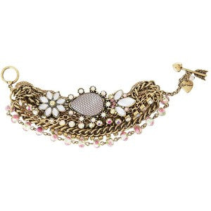 Betsey Johnson Multi Chain Bracelet