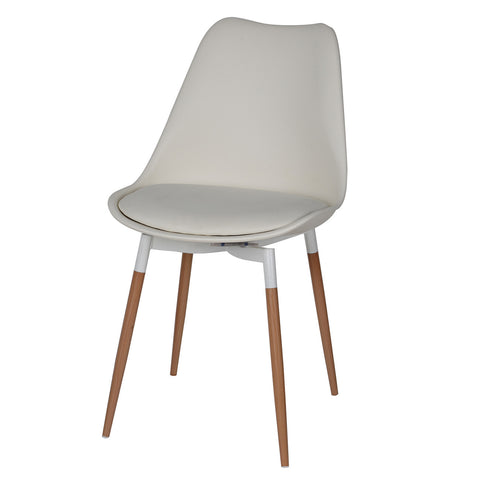 Mode Chair With Soft Seat, Cloud White