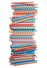Paper Straws + Color Stripes 144 Per Box