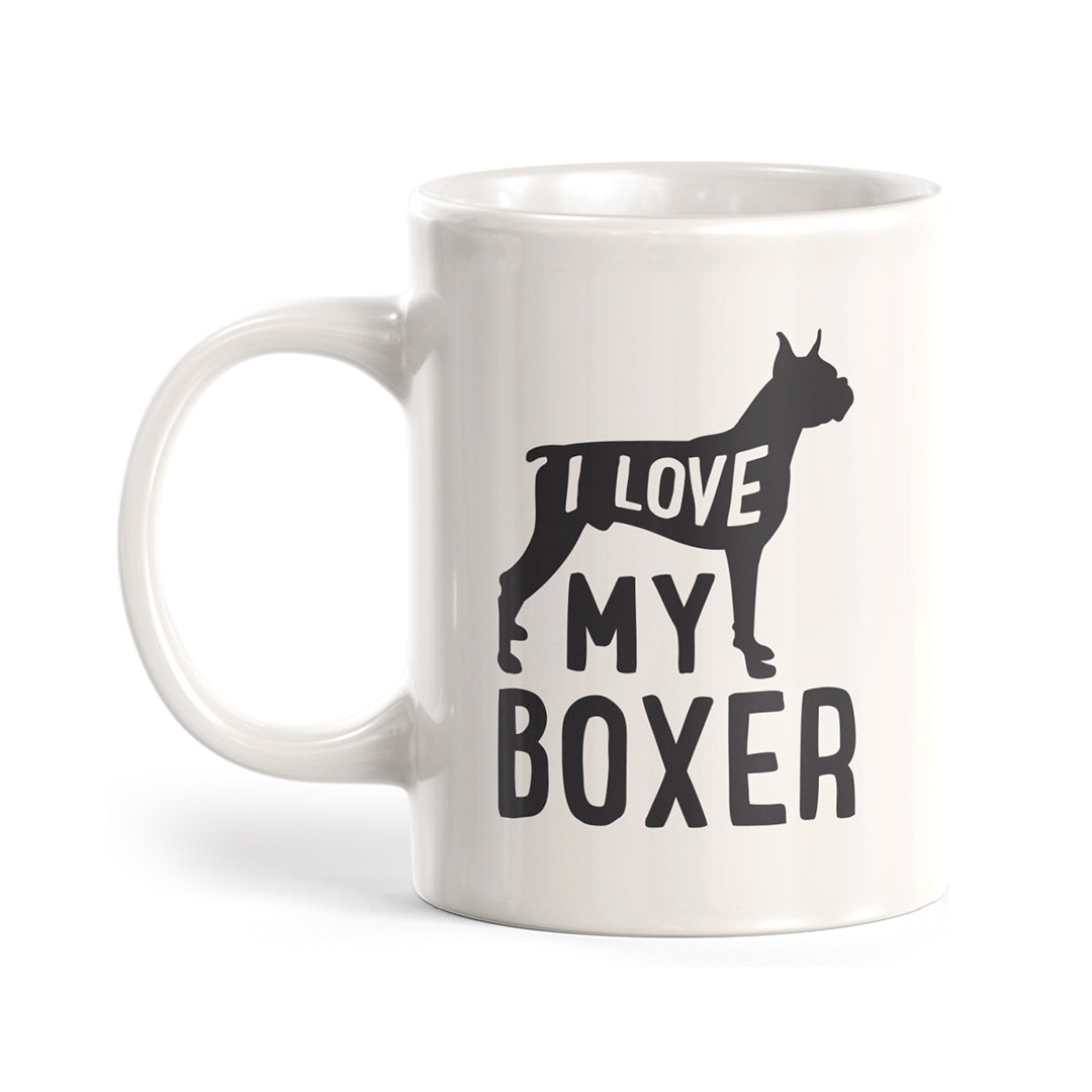 I Love My Boxer Coffee Mug
