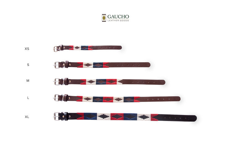 The Patriot Leather Dog Collar in Different Sizes