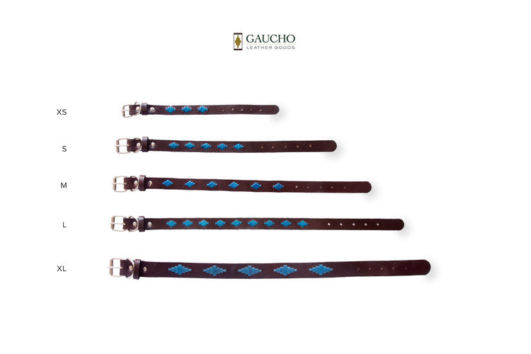 Tahoe Leather Dog Collar in Different Sizes
