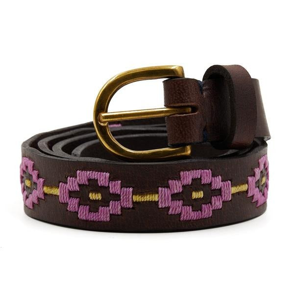 Gaucho Goods Womens Premium Hand-Stitched Leather Belt (Desert Lavender) - Gaucho Goods