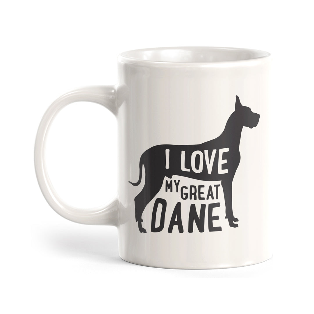 I Love My Great Dane Coffee Mug