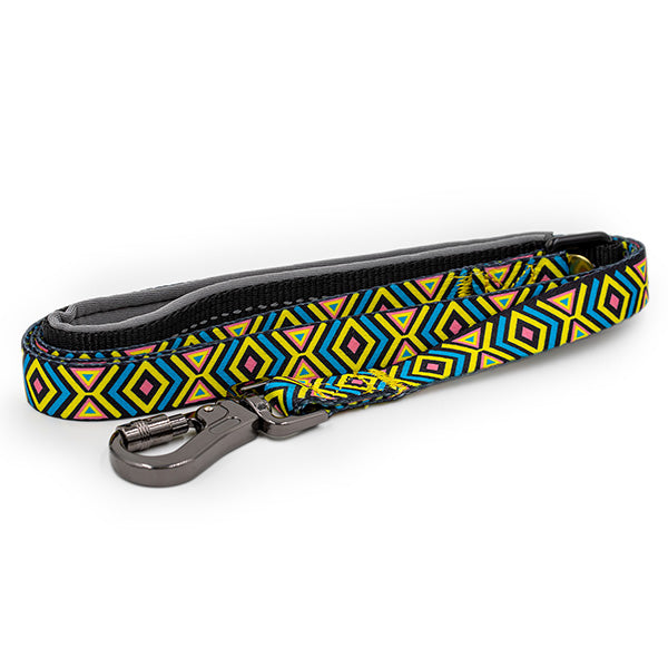 Paws and Pups Durable 6ft Nylon Dog Leash with neoprene padded handle - Aztec - Gaucho Goods