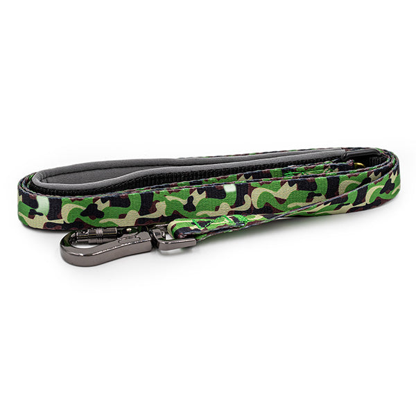 Paws and Pups Durable 6ft Nylon Dog Leash with neoprene padded handle - Camo - Gaucho Goods