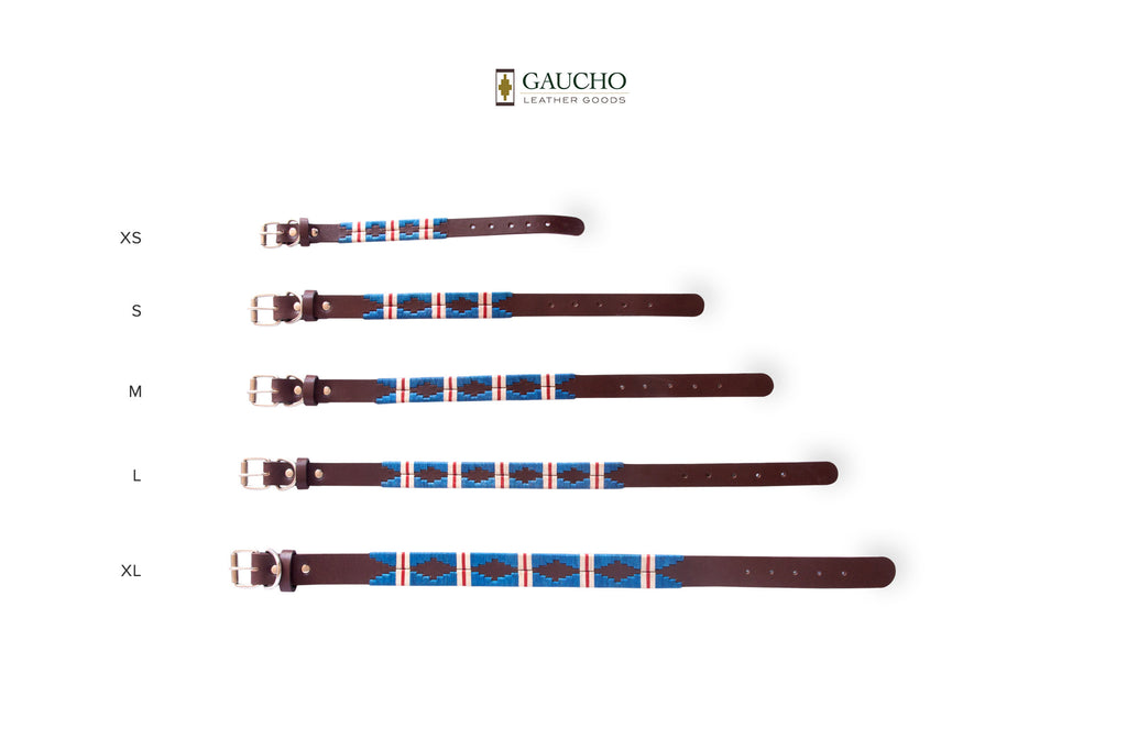 The Pacific Leather Dog Collar in different Sizes
