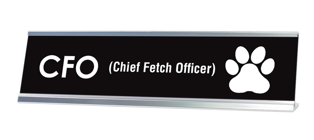 "Chief Fetch Officer Desk Sign (2x8"") - Gaucho Goods"