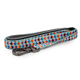 Paws and Pups Durable 6ft Nylon Dog Leash with neoprene padded handle - Kaleidoscope - Gaucho Goods