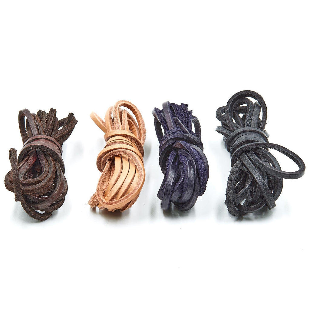 "Gaucho Goods (72)"" Flat Leather Laces Braided Cord (3mm) - Gaucho Goods"
